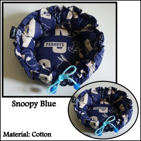 Jual Cage Pouch Sugar Glider Yopetoys Circle Bed Snoopy Blue