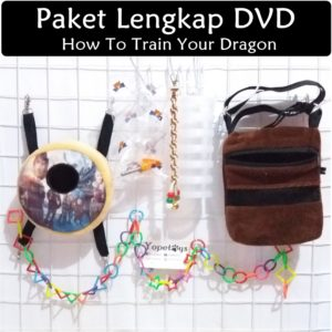 Set Perlengkapan Sugar Glider DVD How to Train Your Dragon