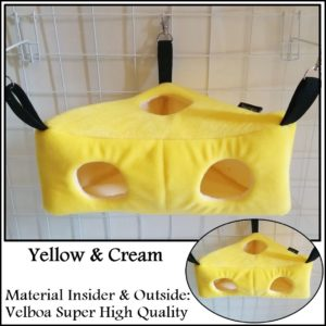 Yopetoys Cheese Bed Sleeping Pouch Sugar Glider Kuning